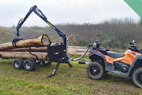 Soustřeďování dřeva v lesním hospodářství, efektivnost využití čtyřkolek k tomu potřebných a těžebně-dopravní proces