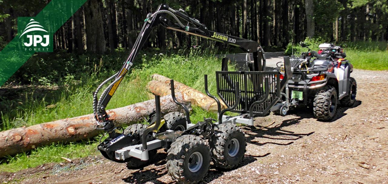 ATV čtyřkolka s vyvážečkou dřeva Vahva Jussi jako nástroj pro soustřeďování dřeva z výchovných těžeb – testování a výzkum