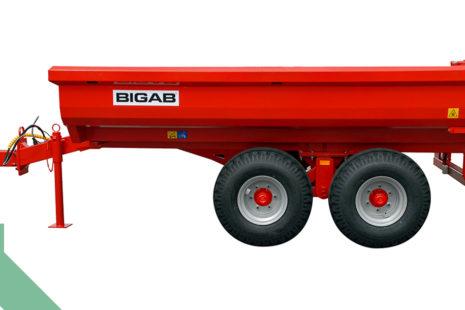 Sklopný přívěsný vyvážecí vlek za traktor BIGAB T8