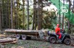Profesionální přívěs pro vyvážení dřeva