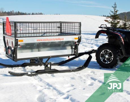 Sada lyží – ATV vozík Farmář