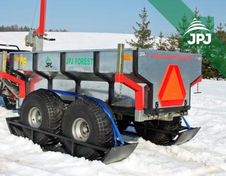 Sada lyží – ATV vozík Dělník