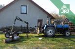 Malotraktor domácí výroby a vyvážečka