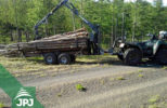 vyvážečka dřeva za čtyřkolky a malotraktory