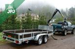 Silniční speciál JPJ Forest - přívěs Vezeko s hydraulickou rukou VJ 320 a Dodge RAM