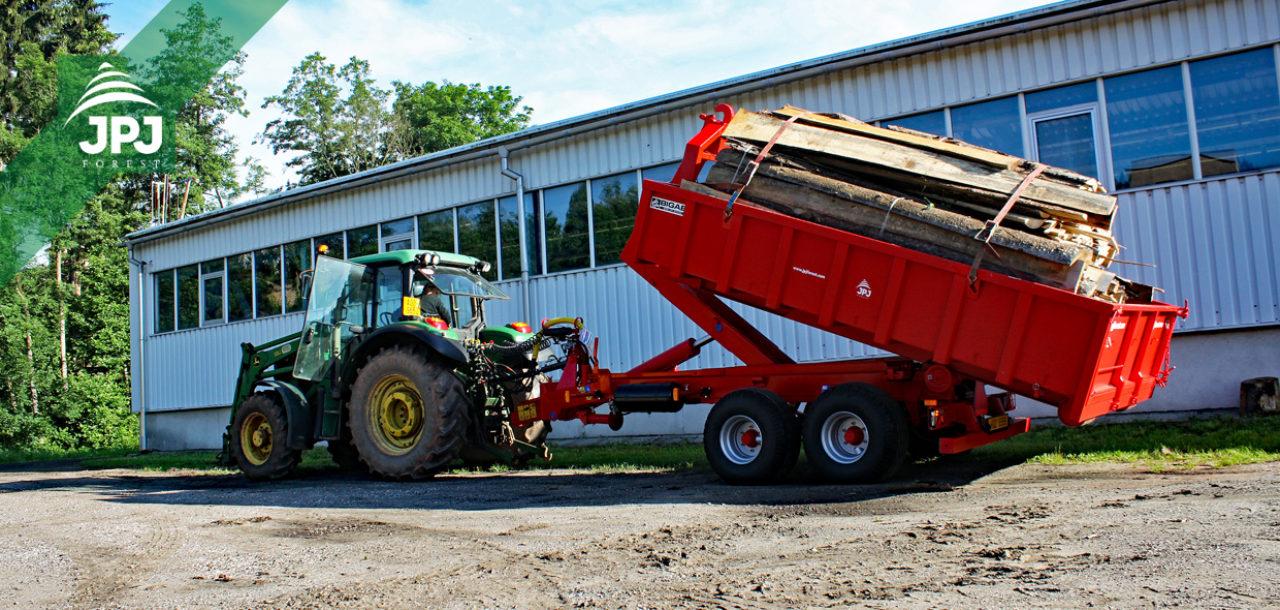 Traktorové nosiče kontejnerů Bigab – švédské kořeny, estonská kvalita
