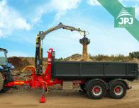 hydraulický jeřáb typu Z na traktorovém nosiči kontejnerů Bigab